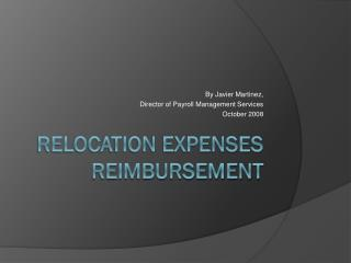 Relocation Expenses Reimbursement