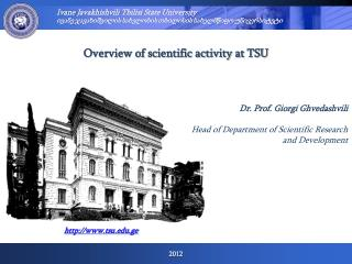 Overview of scientific activity at TSU