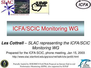 ICFA/SCIC Monitoring WG
