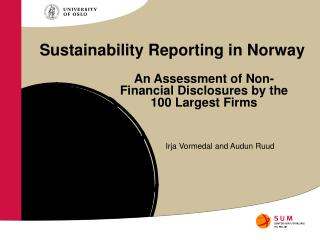 Sustainability Reporting in Norway