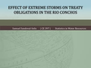 Effect of Extreme Storms on Treaty Obligations in the Rio Conchos