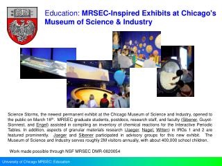 University of Chicago MRSEC: Education