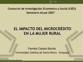 Consorcio de Investigación Económica y Social (CIES )