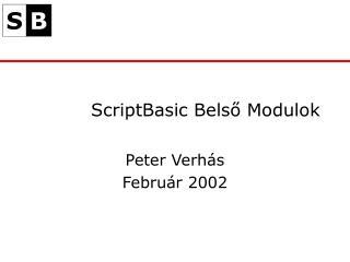 ScriptBasic Belső Modulok