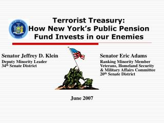 Terrorist Treasury:  How New York's Public Pension Fund Invests in our Enemies