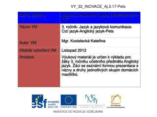 VY_32_INOVACE_Aj.3.17-Pets