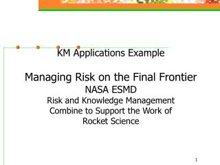 The Integrated Risk and Knowledge Management System