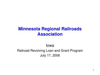 Minnesota Regional Railroads Association