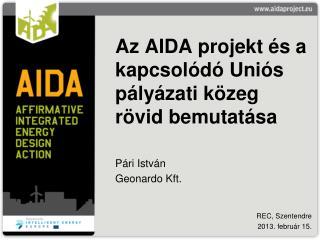 Az AIDA projekt és a kapcsolódó Uniós pályázati közeg rövid bemutatása