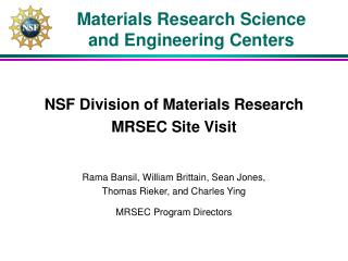 Materials Research Science and Engineering Centers
