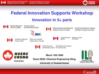 Federal Innovation Supports Workshop Innovation in 5+ parts
