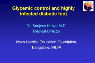 Glycemic control and highly infected diabetic foot