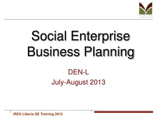 Social Enterprise Business Planning