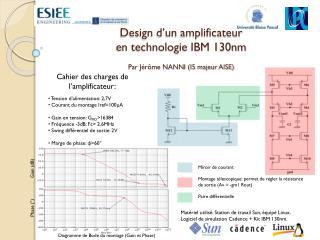 Design d'un amplificateur  en  technologie IBM 130nm Par Jérôme NANNI (I5 majeur AISE)