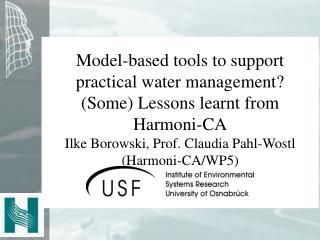 Harmonised Modelling Tools for IRBM
