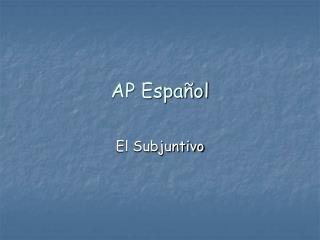 AP Español