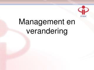 Management en verandering