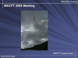 MACFT 2005 Meeting