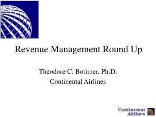 Revenue Management Round Up