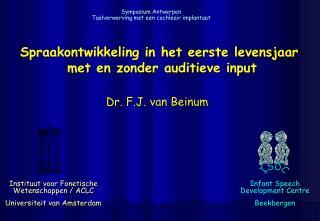 Instituut voor Fonetische Wetenschappen / ACLC Universiteit van Amsterdam
