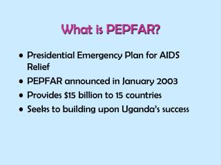What is PEPFAR?