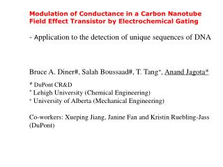 Modulation of Conductance in a Carbon Nanotube Field Effect Transistor by Electrochemical Gating