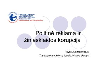 Politin ė reklama ir žiniasklaidos korupcija