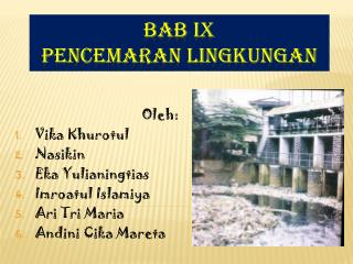 BAB IX PENCEMARAN LINGKUNGAN