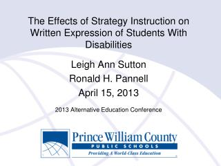 The Effects of Strategy Instruction on Written Expression of Students With Disabilities