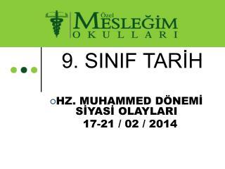 9. SINIF TARİH
