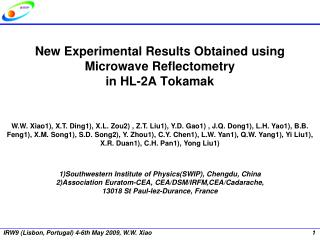 New Experimental Results Obtained using Microwave Reflectometry in HL-2A Tokamak