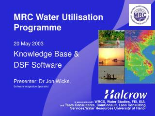 MRC Water Utilisation Programme