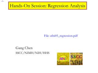 Hands-On Session: Regression Analysis