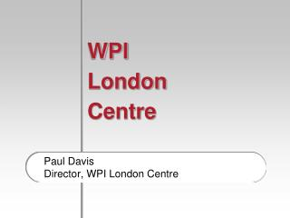 WPI London  Centre