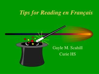 Tips for Reading en Français