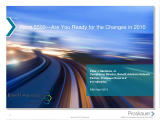 Form 5500—Are You Ready for the Changes in 2010