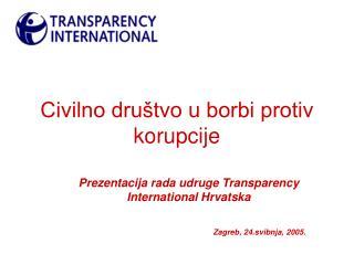 Civilno društvo u borbi protiv korupcije
