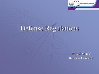 Defense Regulations