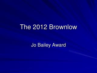 The 2012 Brownlow