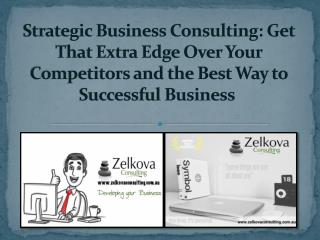 Strategic Business Consulting services in Australia