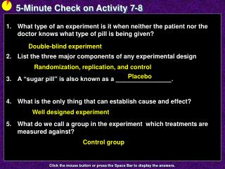 5-Minute Check on Activity  7-8