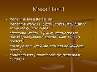 Masa Rasul