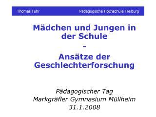 Thomas FuhrPädagogische Hochschule Freiburg