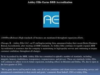 Ashley Ellis Earns BBB Accreditation