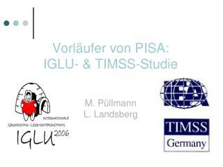 Vorläufer von PISA: IGLU- & TIMSS-Studie M. Püllmann L. Landsberg