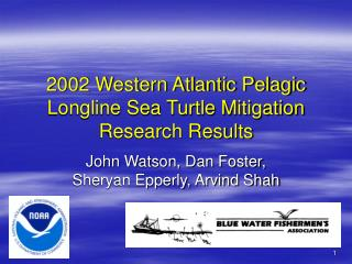 2002 Western Atlantic Pelagic Longline Sea Turtle Mitigation Research Results