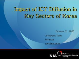 Impact of ICT Diffusion in Key Sectors of Korea