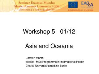 Workshop 5   01/12 Asia and Oceania