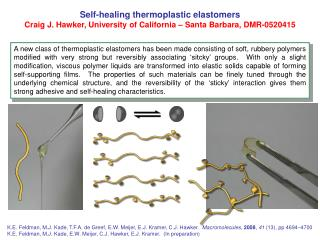 Self-healing thermoplastic elastomers