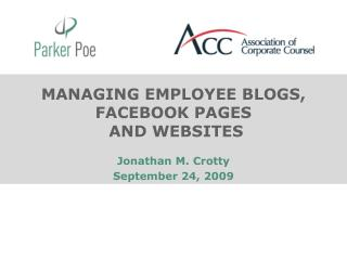 MANAGING EMPLOYEE BLOGS, FACEBOOK PAGES  AND WEBSITES